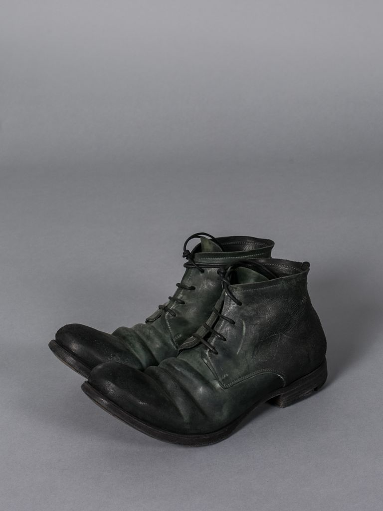 LAYER-0 MEN REVERSE CORDOVAN LEATHER ANKLE BOOT