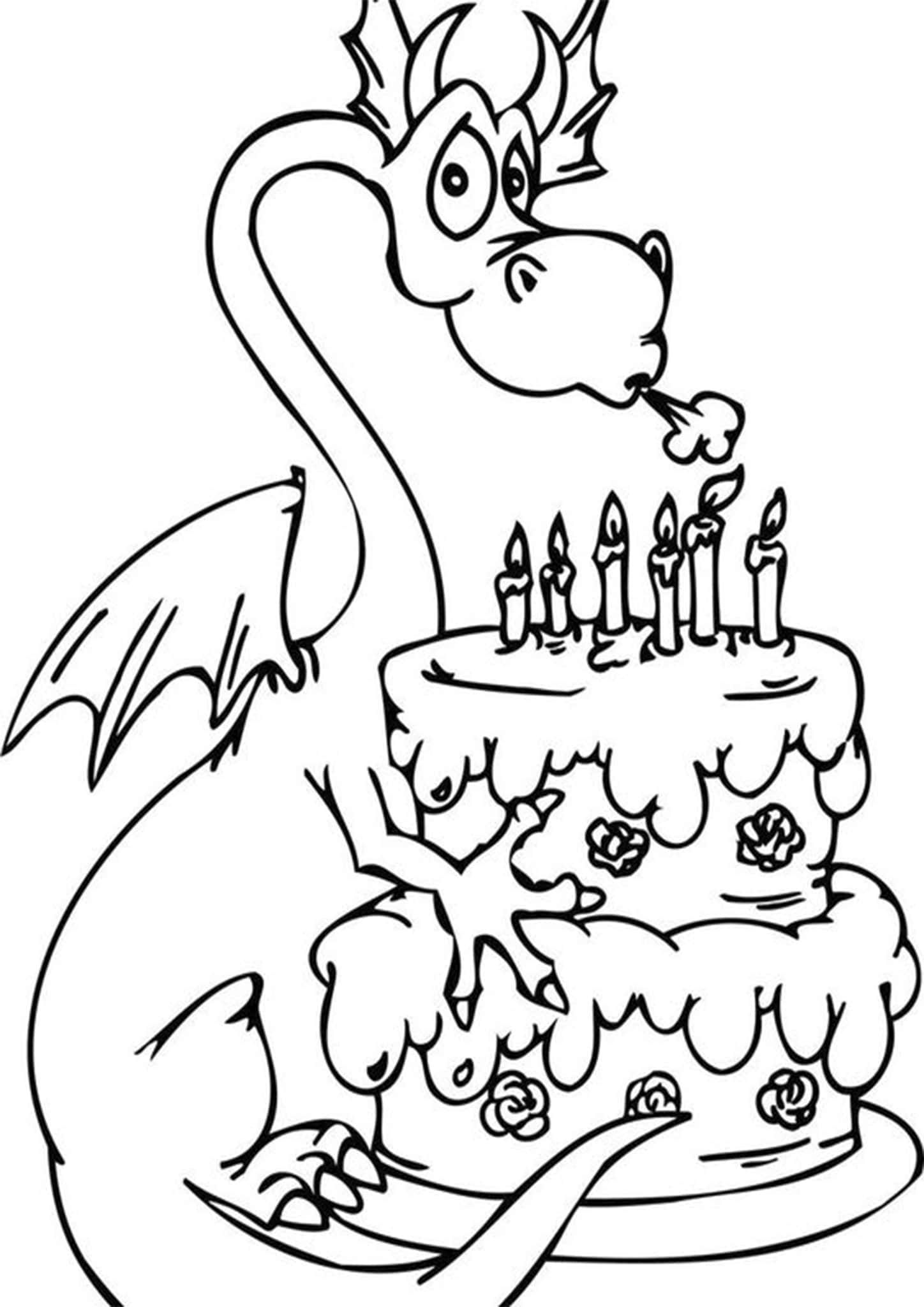 Free Easy To Print Cake Coloring Pages Happy Birthday Coloring Pages Birthday Coloring Pages Printable Coloring Pages