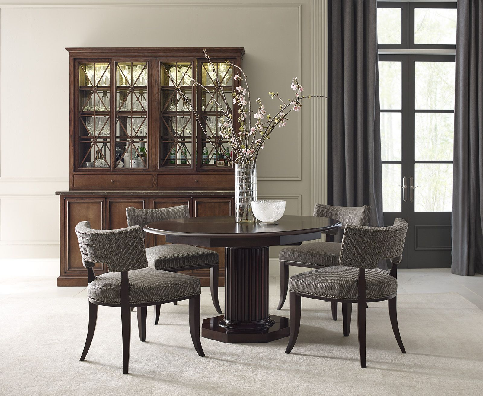 The Saint Giorgio Dining Chairs Eden Roc Table Rock Crystal Bowl And Meurice