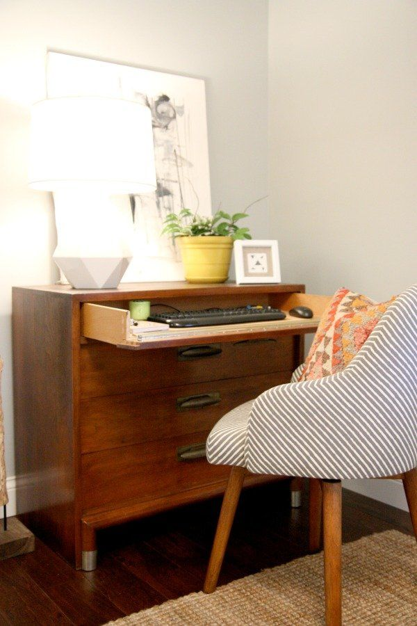 Turn Your Dresser Into a Desk With This Clever DIY! - Yahoo Homes