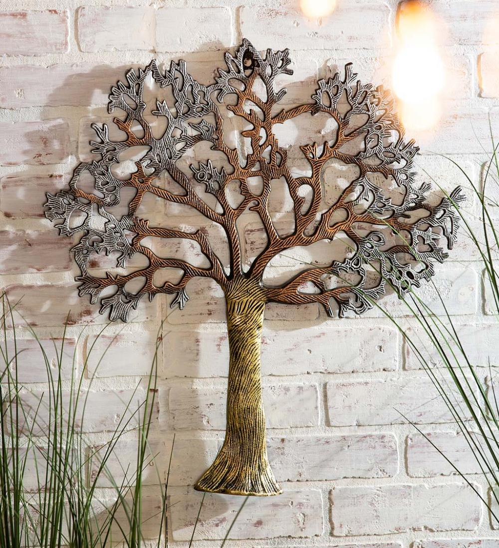 Indoor/Outdoor Metallic Tree of Life Wall Art in 2020 ...