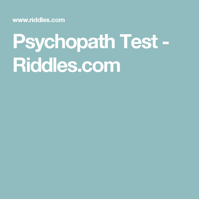 Top 10 Punto Medio Noticias | Psychopath Test Riddles