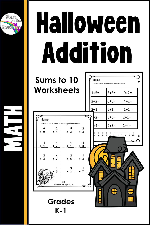 Halloween Addition Worksheets Halloween Worksheets Addition Worksheets Skills Practice [ 1440 x 960 Pixel ]
