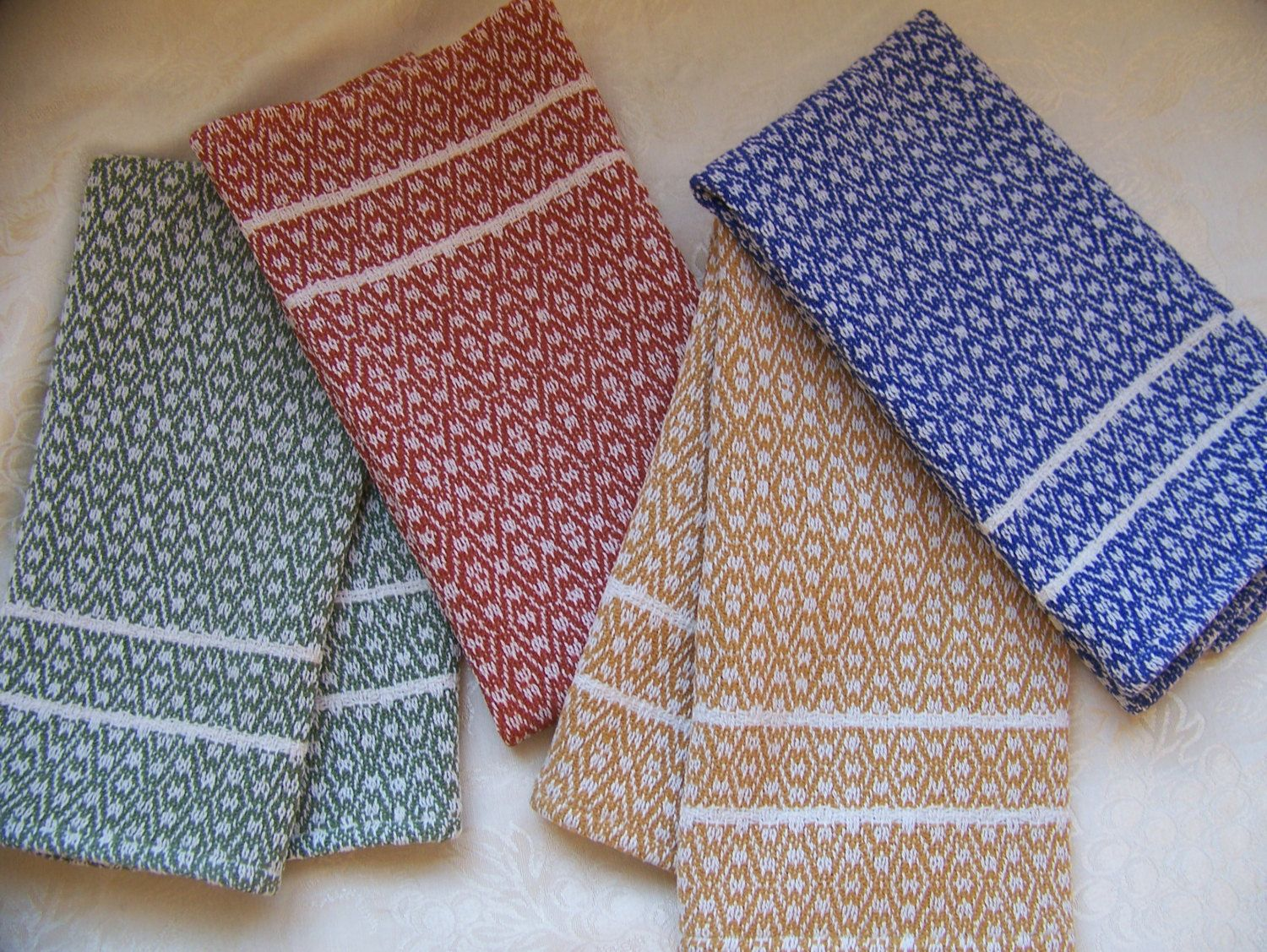 Custom Handwoven Towel 35 Colors Dish Tea Kitchen by KnitSpinLove ...