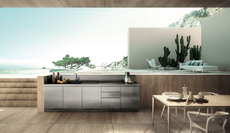 Contemporary Outdoor Kitchens The Abimis Outdoor Kitchen Home Outdoor Furniture Sets Custom Kitchens