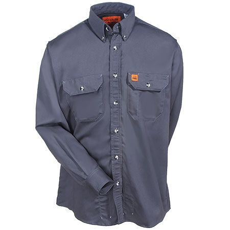 67e4c92c47bb Riggs Workwear Men s Grey FR3W5 GY Flame Resistant Long Sleeve Shirt ...