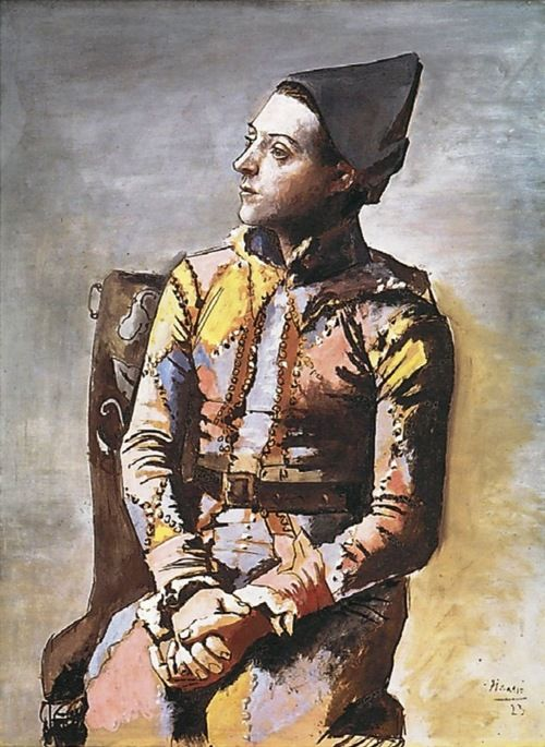 Pablo Picasso, The Seated Harlequin, 1923, Kunstmuseum Basel, Switzerland
