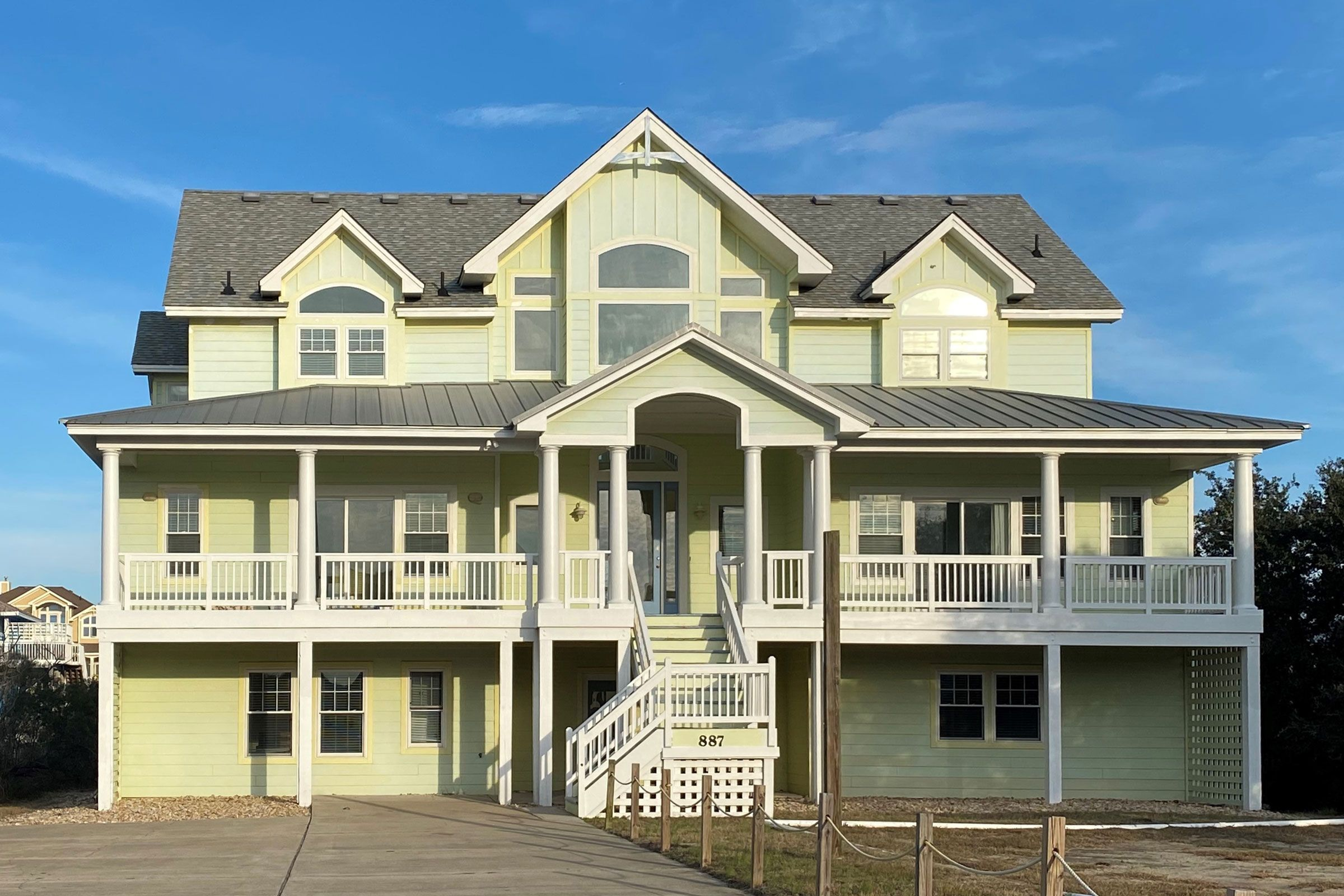 Absolute Paradise Corolla Vacation Rentals Outer Banks Blue Rectangular Pool Vacation Rental Outer Banks Vacation Rentals