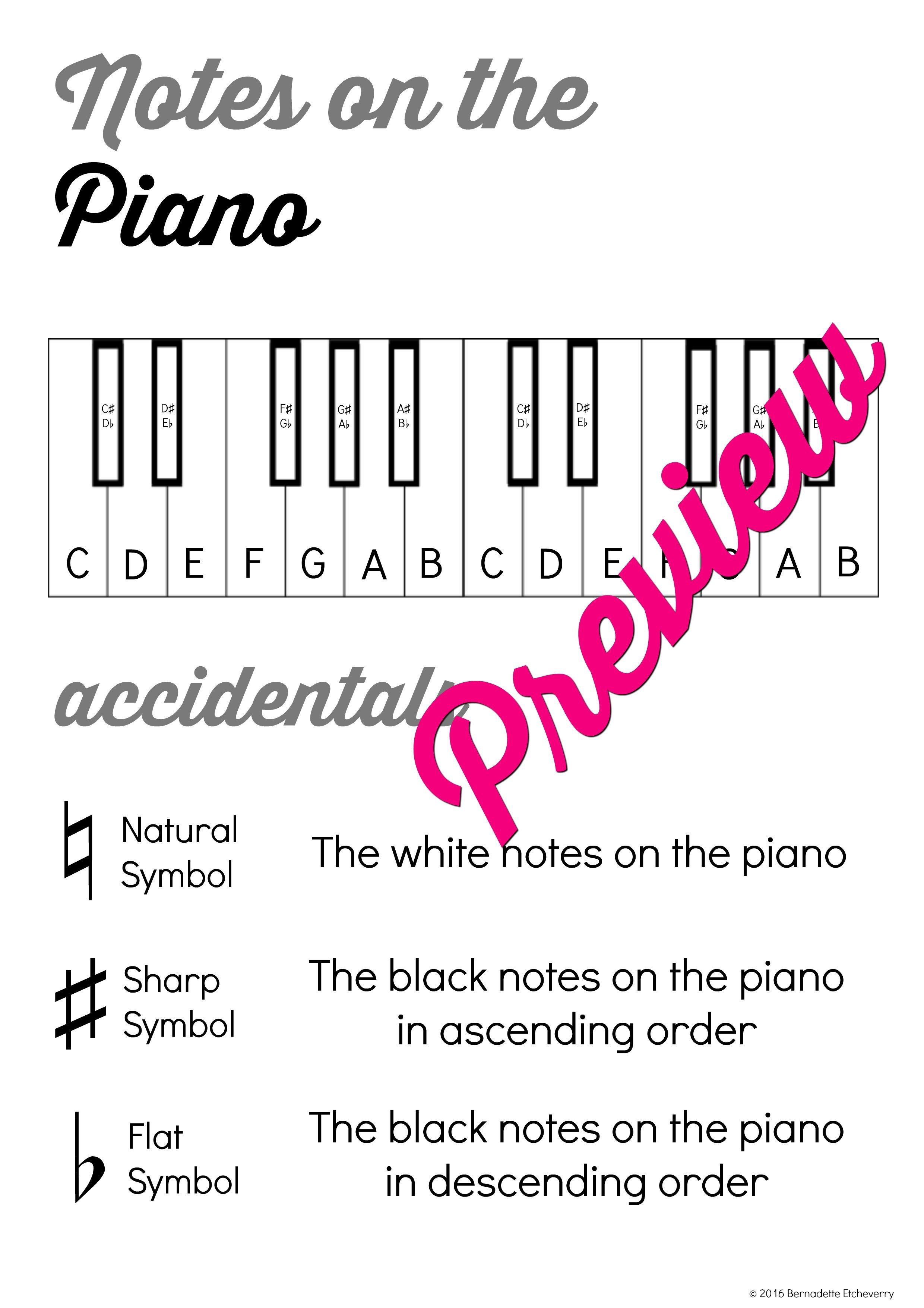 Music Theory Lesson 1 With Word Search Activity No Prep Printable