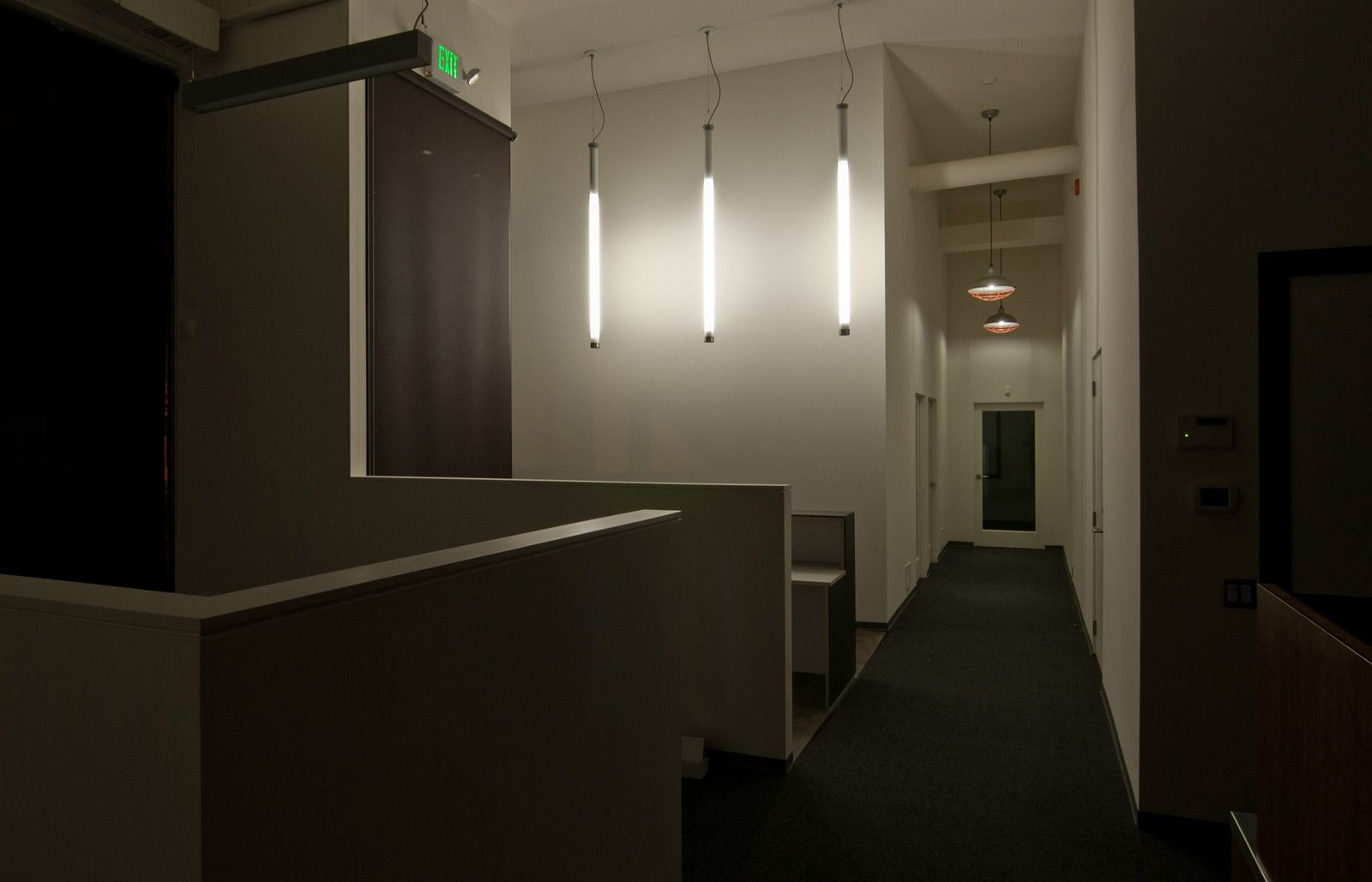Commercial fluorescent lighting lights cl and modern nice use of the fluorescent tube for a modern space aloadofball Choice Image