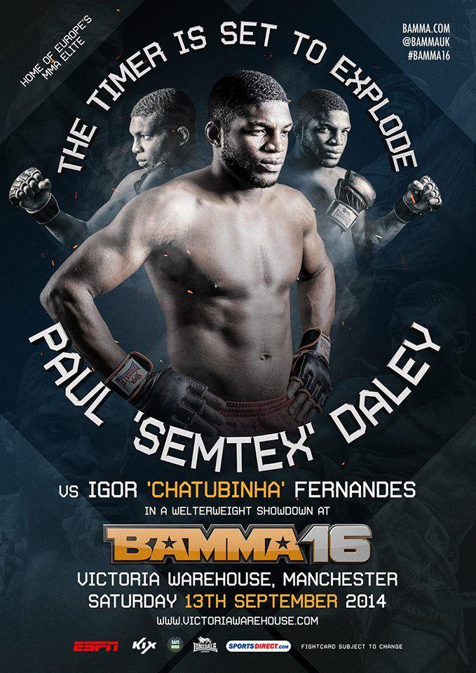 Paul Daley BAMMA 16 Teaser poster #BAMMA16 #MMA #MixedMartialArts #UFC #BAMMA