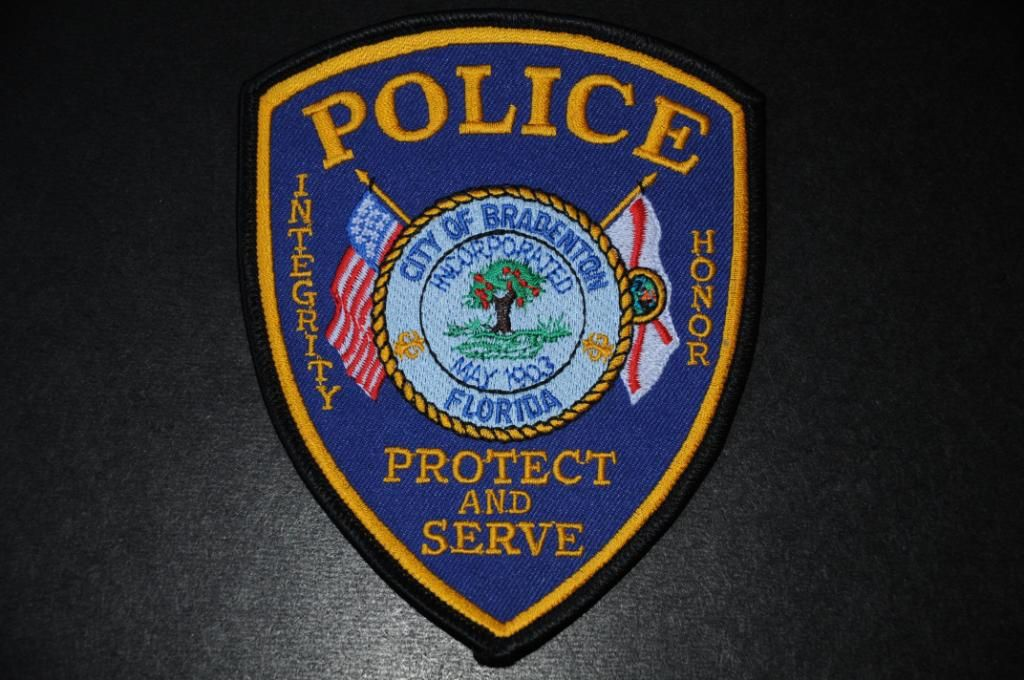 Bradenton Police Patch, Manatee County, Florida (Current
