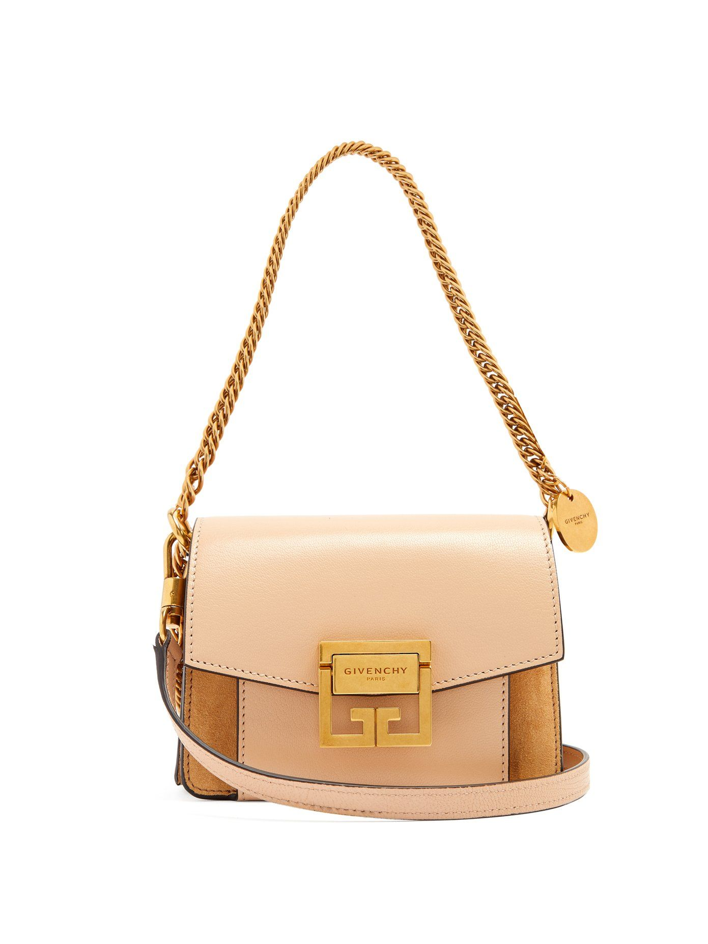 Givenchy GV3 mini suede and leather cross-body bag  99d85698596cb
