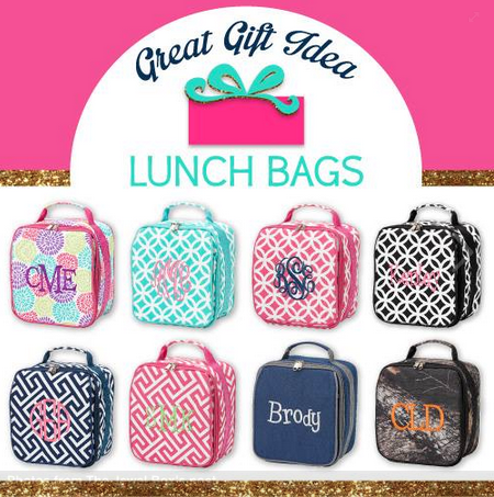 These lunch bags are too cute! | $24.95 | jewelboxonline.com