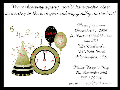 Image result for new years party invitation wording New