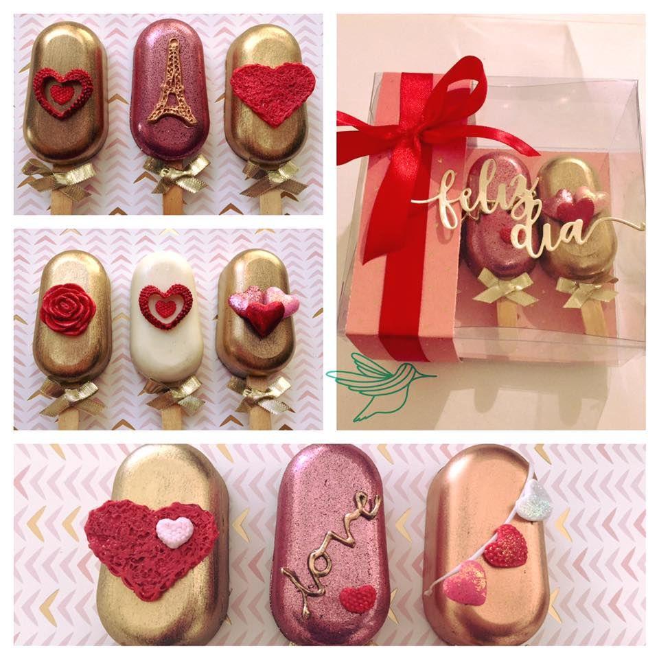Magnun cakes | Paletas de bombon fiestas, Paletas de chocolate san valentin, Paletas de chocolate decoradas