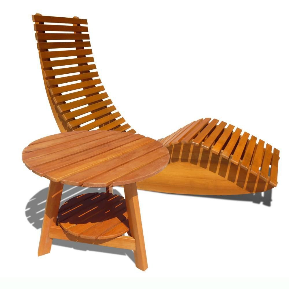 amazon: vifah v1123set1 outdoor wood rocker lounge chair and
