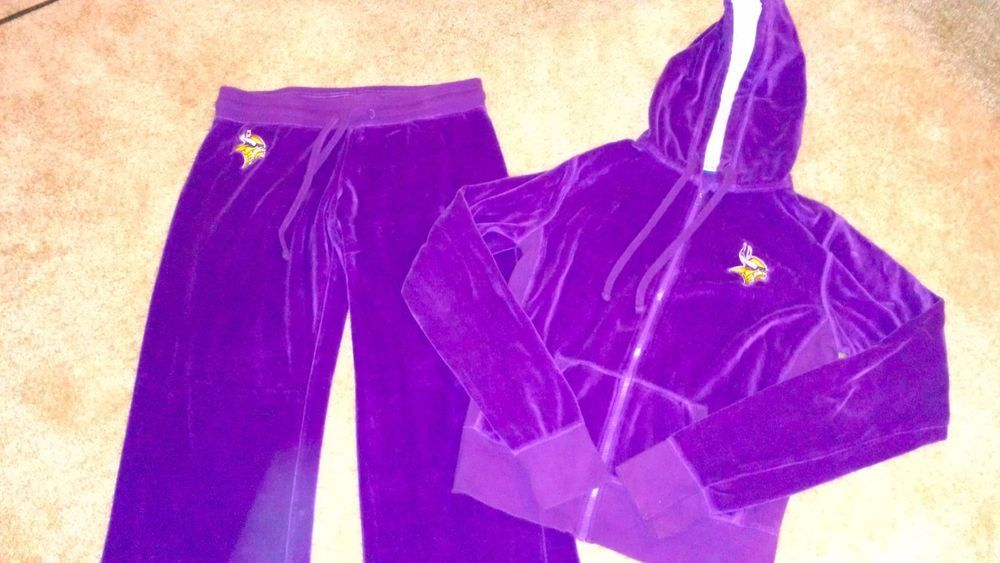 on sale 27c31 366da Reebok Minnesota Vikings Velour Jacket Pants Women's SZ M ...