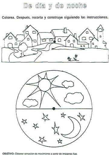 Recursos Para Educacion Infantil Conceptos Temporales Dia Y Noche Actividades De Arte Para Ninos Actividades Para Ninos Preescolar Actividades Para Primaria