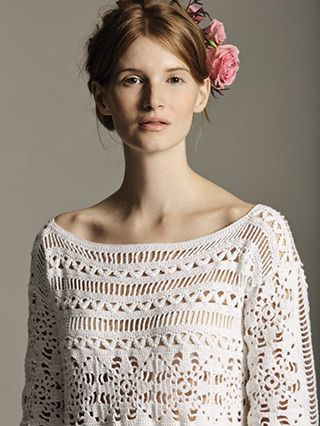 Lupin from Filigree by Marie Wallin is a collection of 10 crochet designs for women using Rowan's NEW YARN! Summerlite 4ply. This beautiful and very feminine collection of 10 openwork designs reflects the true elegance of this traditional craft. | English Yarns