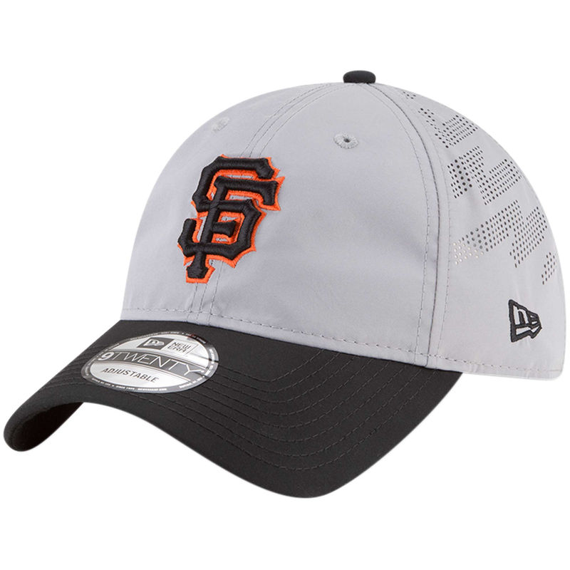 official photos 819b4 d7d6e San Francisco Giants New Era Prolight Batting Practice 9TWENTY Adjustable  Hat – Gray Black