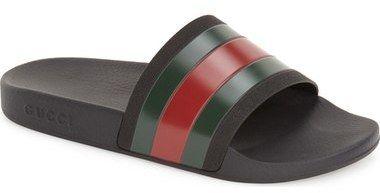 Gucci Flip Flop 'Pursuit '72 Slide' Sandal (Men) BUY TODAY: https://api.shopstyle.com/action/apiVisitRetailer?id=417949590&pid=uid4096-34062436-94