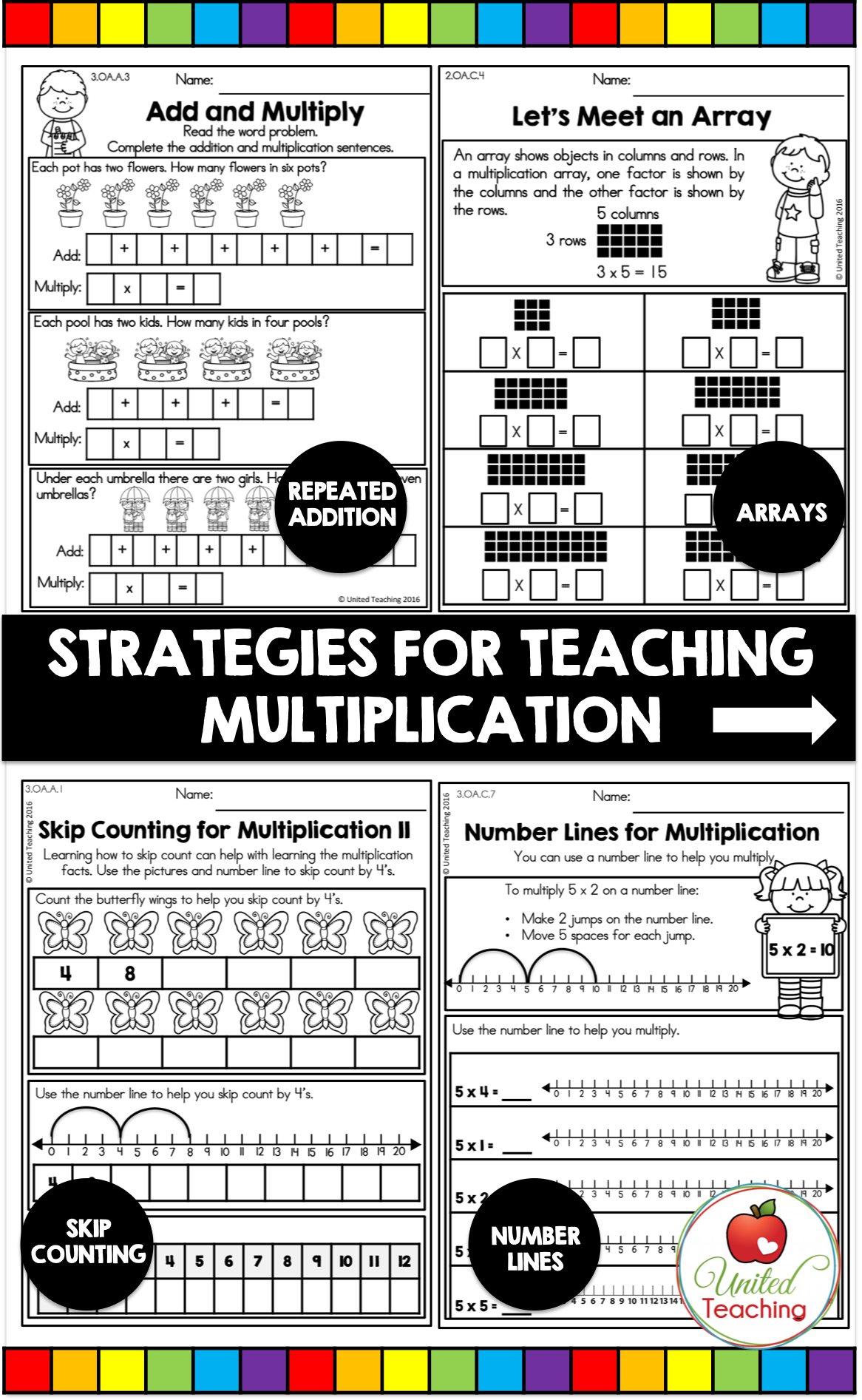 Multiplication Worksheets Bundle