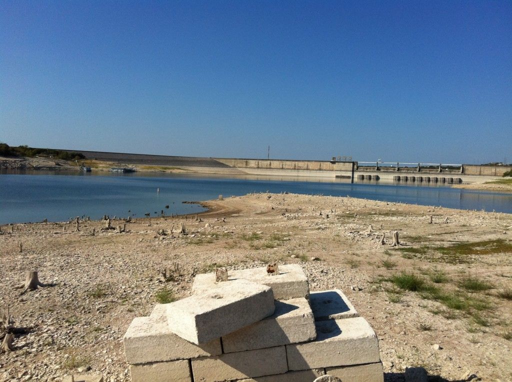 Drought in austin texas lake this spot normally under 40