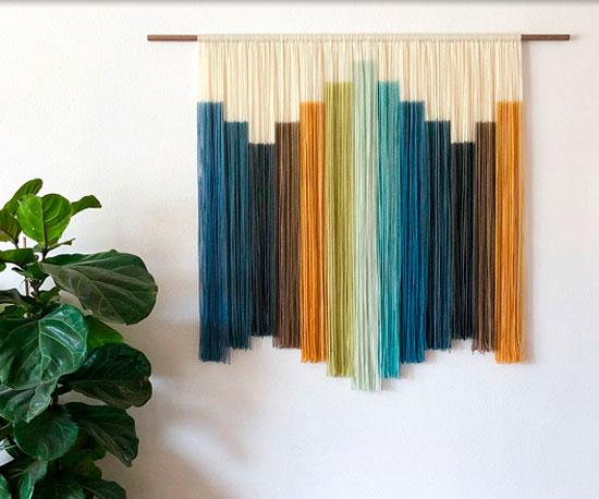 Dip Dyed Wall Hanging Project Ideas Blick Art Materials In 2020 Tie Dye Wall Art Fiber Art Wall Hanging Fiber Wall Hanging