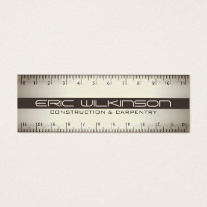 Professional double ruler faux look cover mini business card professional double ruler faux look cover mini business card colourmoves