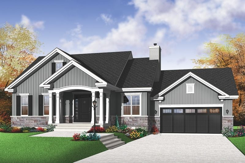 Traditional Style House Plan 2 Beds 1 Baths 1199 Sq Ft Plan 23 2530 Craftsman Style House Plans Bungalow House Plans Craftsman House Plans
