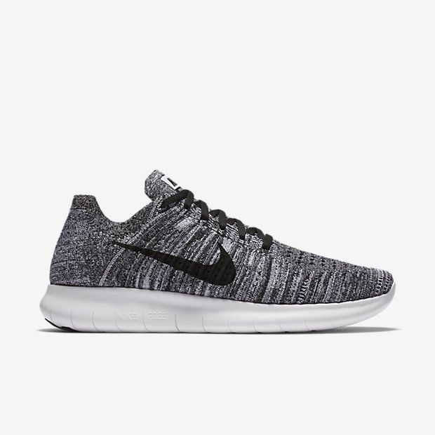Nike Free RN Flyknit Mens Running Shoes 11 White Black 831069 100 Oreo #Nike …