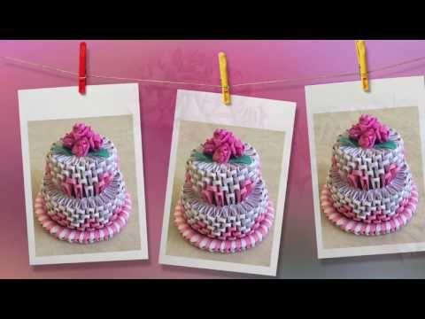 How To Make 3d Origami Cake Cake Tutorial Priti Sharma Youtube