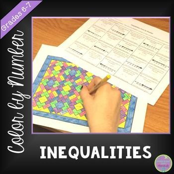 Add Some Color To Math Class Students Write Inequalities To Represent Situations Or To Represent The G Inequalities Activities Writing Inequalities Inequality