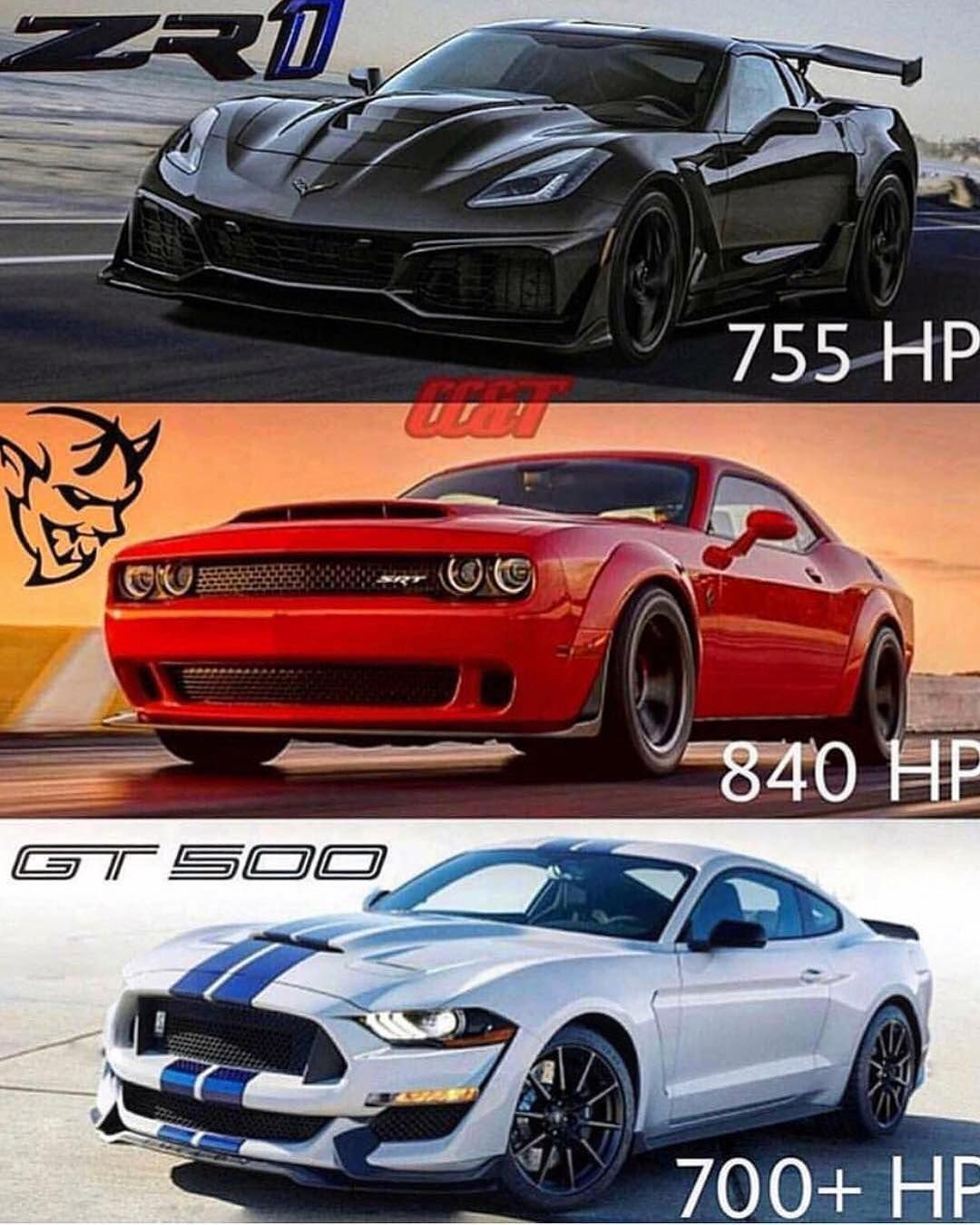 Muscle Cars Zr1 Demon Gt500 Americanmuscle