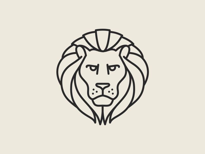 Lion Pictogram Geometric Lion Pictogram Design Simple Lion Tattoo