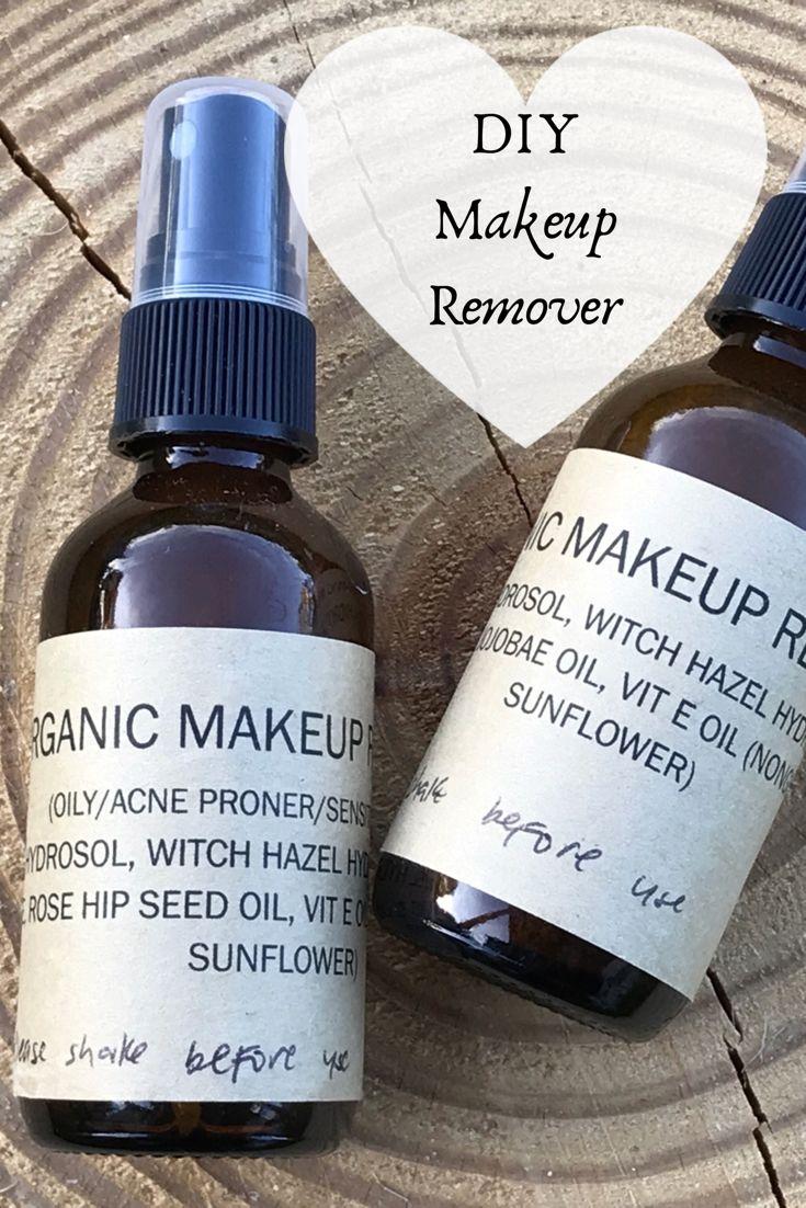 DIY Organic Makeup Remover Diy makeup remover, Organic