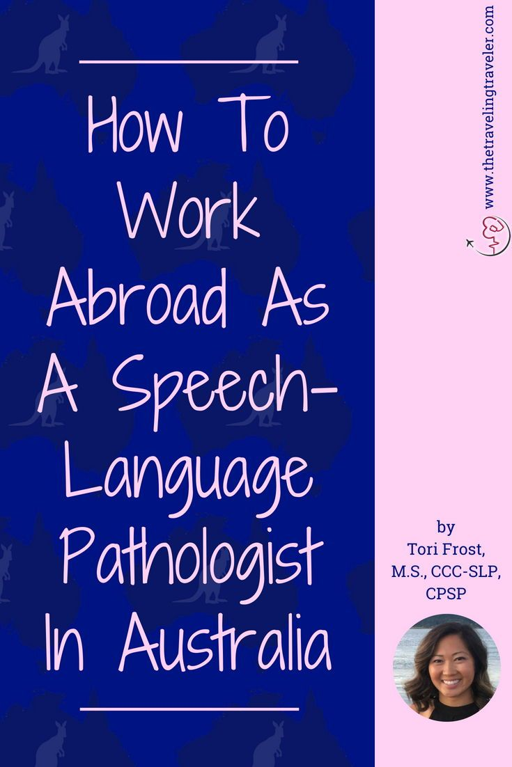 How to work abroad as a speechlanguage pathologist in