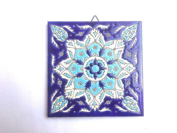 Mediterranean Tile Vintage Tile Hand Made Ceramic
