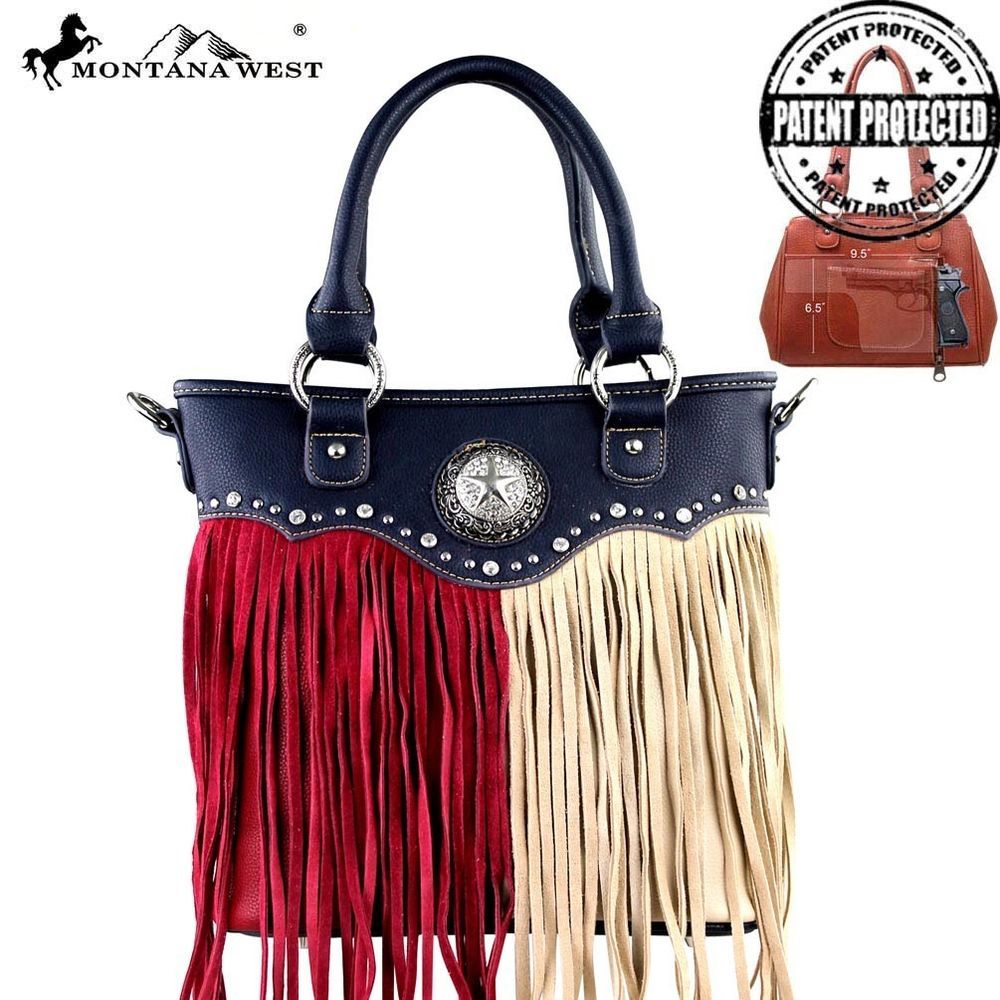 Montana West Concealed Carry Purse Texas Pride Gun Bag Navy Ccw Concealment