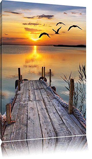steg bei sonnenuntergang format 60x40 auf leinwand xxl bilder strand meer b sunset landscape photography beautiful wallpaper 45x60 20x20 foto