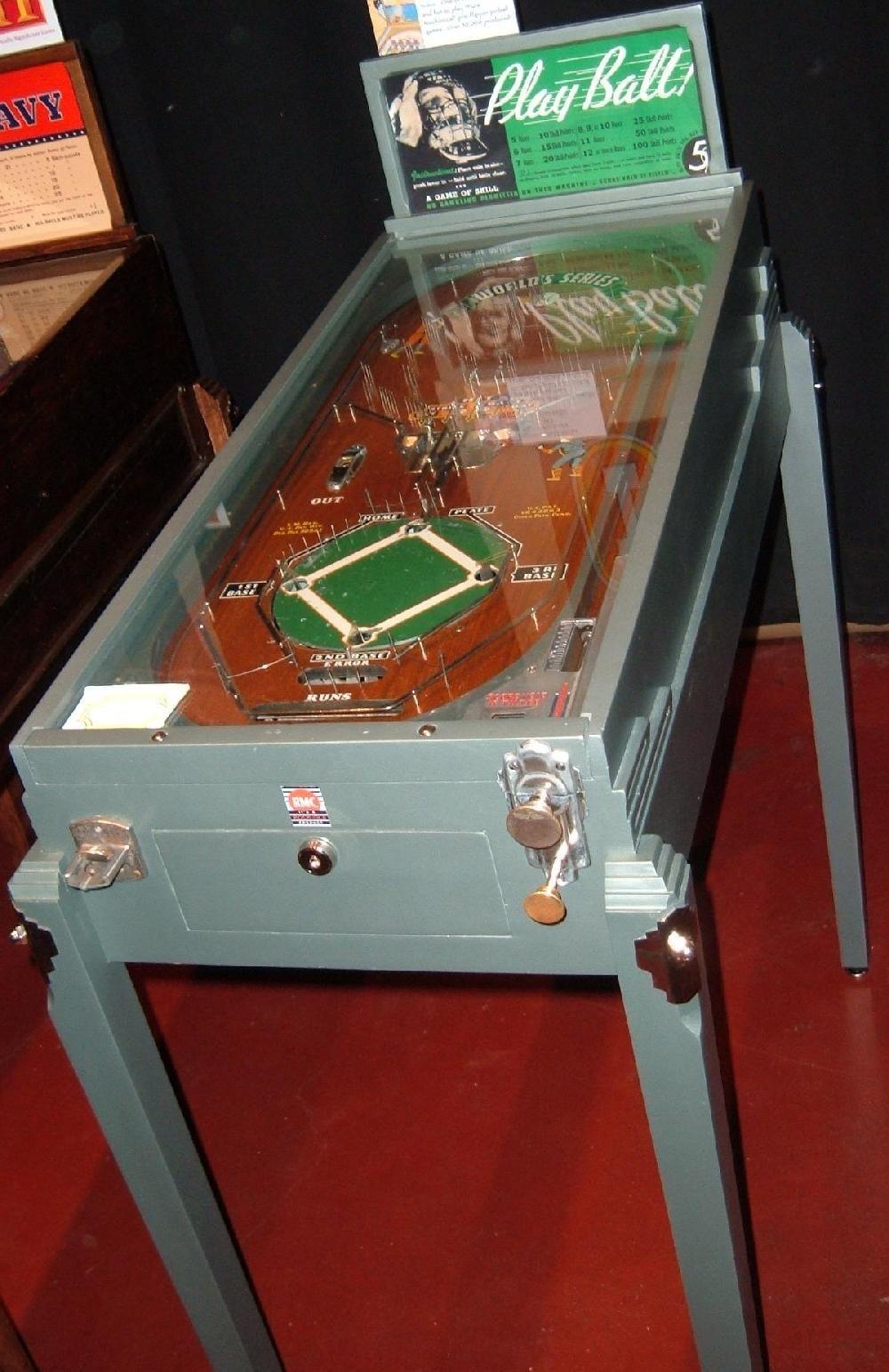 1934 Rockola World Series 1934 Play Ball Baseball Pinball Machine
