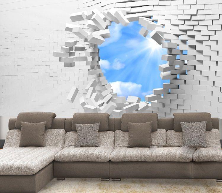 papier peint design pas cher papier peint brique pas cher. Black Bedroom Furniture Sets. Home Design Ideas
