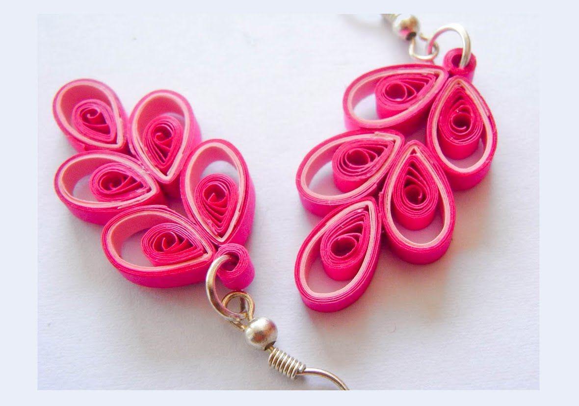 Beautiful Quilling Paper Earring Designs Making Methods Earrings Makin