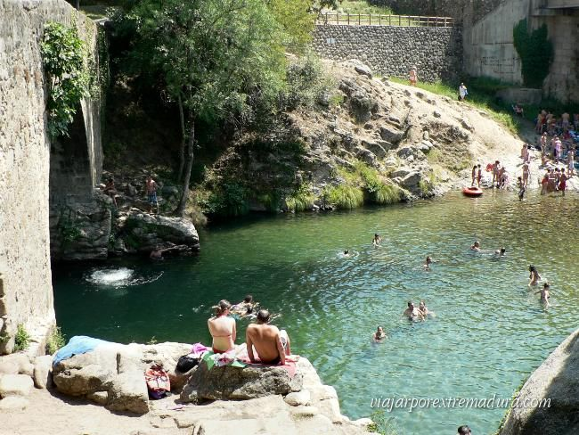 Piscina natural comarca de la vera extremadura espa a lugares con encanto pinterest - Piscinas naturales badajoz ...