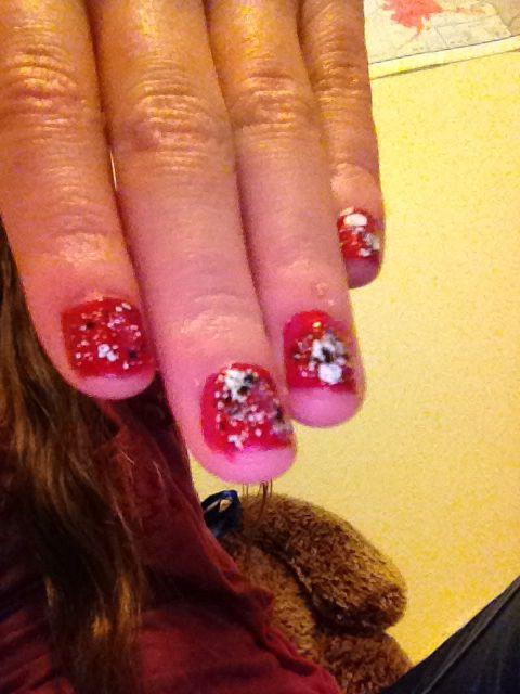 My nails. Hot topic nail polish!