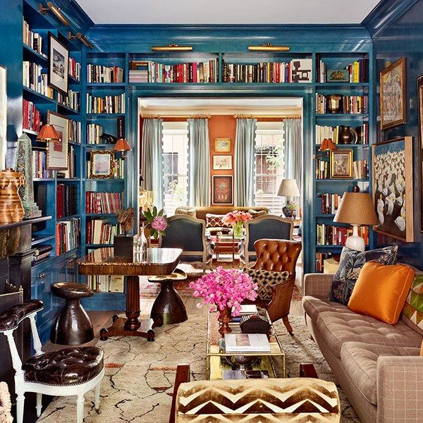 9 home libraries for hitting the books in style living with books pinterest m bel haus. Black Bedroom Furniture Sets. Home Design Ideas