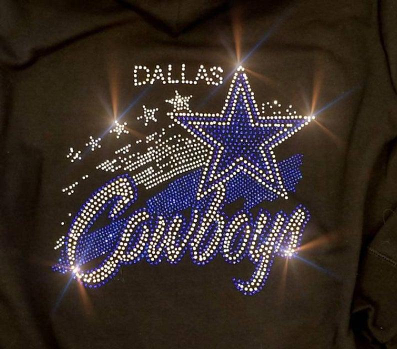 Iron On Transfer Inspired by Dallas Cowboys T-Shirt Iron on Rhinestone Transfer of Cowboys Logo #howtoapplybling