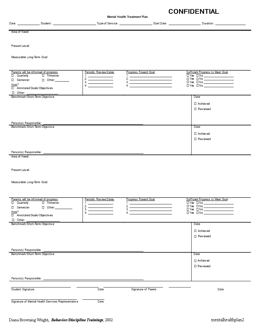 Many facilities have a treatment plan template or form that the counselor will fill out. 10 Treatment Plan Template Ideas Treatment Plan Template Treatment Plan Counseling