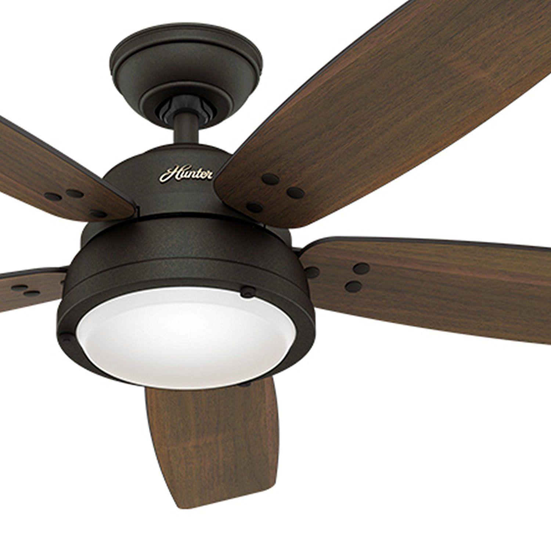 """Hunter Fan 52"""" Contemporary Ceiling Fan in Noble Bronze"""
